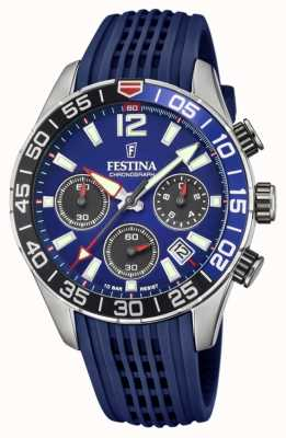 Festina 男士计时码表|蓝色硅胶表带|蓝色表盘 F20517/1