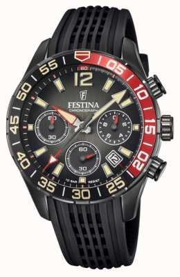 Festina 男士计时码表|黑色硅胶表带|黑色表盘 F20518/3