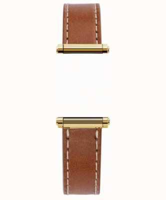 Michel Herbelin Antarès|哈里森金|仅限棕色皮革可互换表带(金色) BRAC.17048.02/P