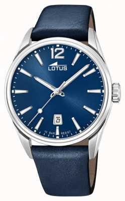 Lotus 男士蓝色皮革表带|蓝色表盘 L18693/1