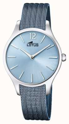 Lotus 女士蓝色钢网手链|蓝色表盘 L18749/2