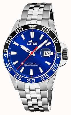 Lotus 男士不锈钢手链|蓝色表盘|黑色/蓝色边框 L18766/1