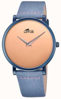 Lotus 男士蓝色皮革表带|玫瑰金表盘 L18781/1