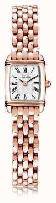 Michel Herbelin 装饰艺术|女士镀玫瑰金钢手链|白色表盘|罗马数字| 17438/PR08B