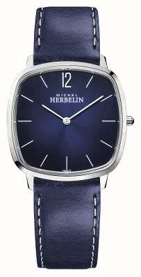 Michel Herbelin 城市|男士蓝色皮革表带|蓝色表盘 16905/15BL