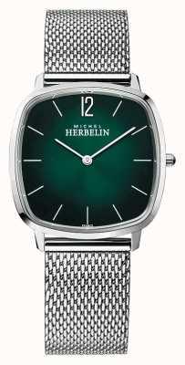 Michel Herbelin 城市|男士钢网手链|绿色表盘 16905/16B
