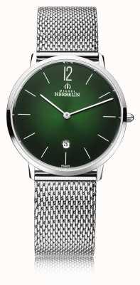 Michel Herbelin 城市|男士钢网手链|绿色表盘 19515/16NB
