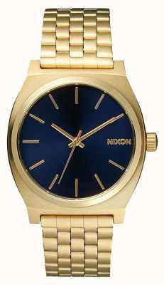 Nixon 时间出纳员|全浅金/钴|黄金ip手链|蓝色表盘 A045-1931-00