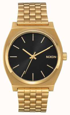 Nixon 时间出纳员 全金/黑色阳光 黄金ip手链 黑色表盘 A045-2042-00