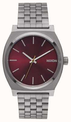 Nixon 时间出纳员|炮铜色/深紫红色|炮铜色ip手链|酒红色表盘 A045-2073-00