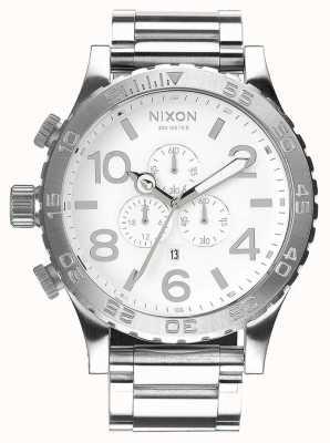 Nixon 51-30计时|高抛光度/白色|不锈钢手链|白色表盘 A083-488-00