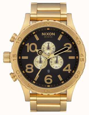Nixon 51-30计时|全金/黑色|黄金ip手链|黑色表盘 A083-510-00