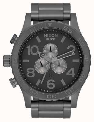 Nixon 51-30计时|所有青铜色|炮铜精钢表链|炮铜表盘 A083-632-00