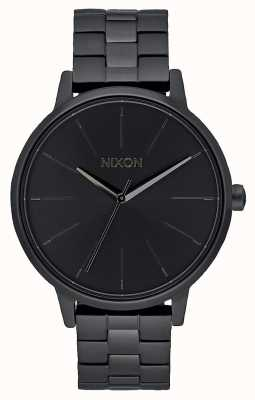 Nixon 肯辛顿|全黑|黑色ip手链|黑色表盘 A099-001-00