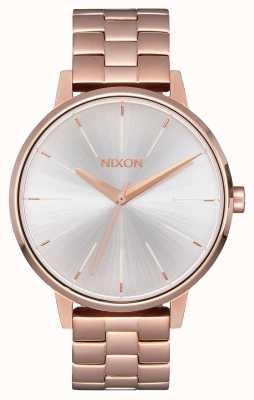Nixon 肯辛顿|玫瑰金/白|玫瑰金ip手链|银色表盘 A099-1045-00