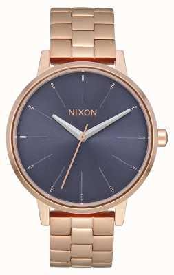 Nixon 肯辛顿|玫瑰金/风暴|玫瑰金ip手链|蓝色表盘 A099-3005-00