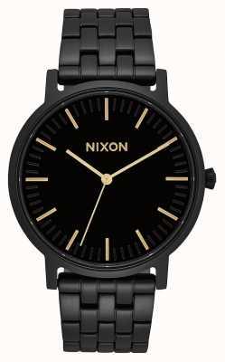 Nixon 搬运工|全黑/金色|黑色ip钢手链|黑色表盘 A1057-1031-00