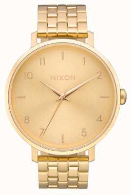 Nixon 箭|全金|黄金ip钢手链|金表盘 A1090-502-00