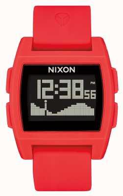Nixon 基础潮|红色|数字|红色硅胶表带 A1104-200-00