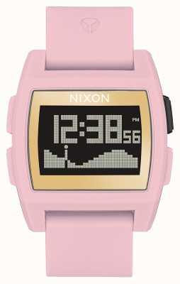 Nixon 基准潮 柔和的粉红色/金色/ lh  数码 粉色硅胶表带 A1104-2773-00
