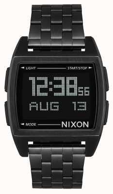 Nixon 基地全黑|数字|黑色ip钢手链| A1107-001-00