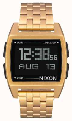 Nixon 基地全金|数字|黄金ip钢手链 A1107-502-00