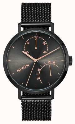 Nixon 离合器黑色/炮铜色|黑色ip钢网|黑色表盘 A1166-1420-00