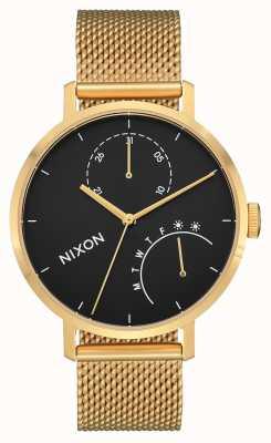 Nixon 离合器金色/黑色|金色ip钢网|黑色表盘 A1166-513-00