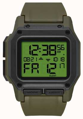 Nixon 轩|剩余碳数字|绿色TPU表带 A1180-3100-00