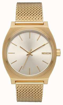 Nixon 西班牙语时间出纳员|全金/奶油|金色ip钢网|奶油色表盘 A1187-2807-00