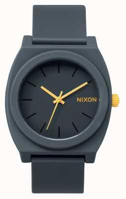 Nixon 时间出纳员p  磨砂钢灰色 灰色硅胶表带 灰色表盘 A119-1244-00