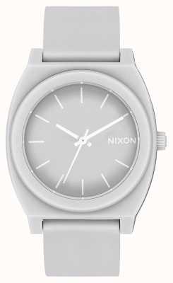 Nixon 时间出纳员p |哑光酷灰色|灰色硅胶表带|灰色表盘 A119-3012-00