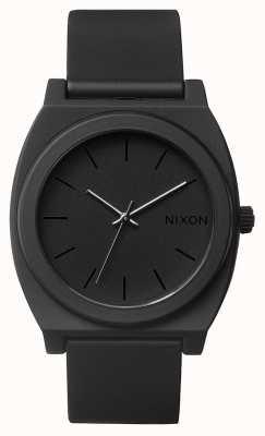 Nixon 时间出纳员p |磨砂黑|黑色硅胶表带|黑色表盘 A119-524-00
