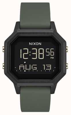 Nixon Siren ss  黑色/疲劳 数码 黑色硅胶  A1211-178-00