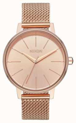 Nixon 肯辛顿米兰人|所有玫瑰金|玫瑰金ip网眼|玫瑰金表盘 A1229-897-00