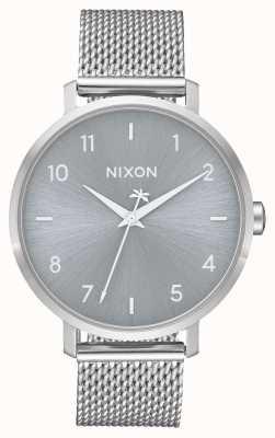 Nixon 箭米兰人 全银 不锈钢网 银色表盘 A1238-1920-00