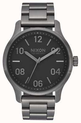Nixon 巡逻|炮铜色/黑色|炮铜色ip钢手链|炮铜表盘 A1242-1531-00