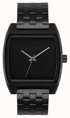 Nixon 时间追踪器|全黑|黑色ip钢手链|黑色表盘 A1245-001-00