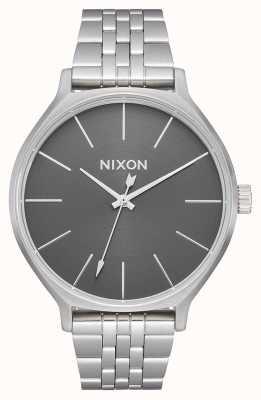 Nixon 派系|全银/灰色|不锈钢手链|银色表盘 A1249-2762-00