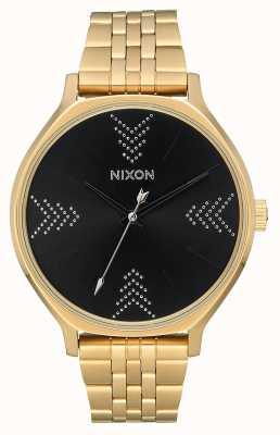 Nixon 派系 金色/黑色/银色 黄金ip钢手链 黑色表盘 A1249-2879-00
