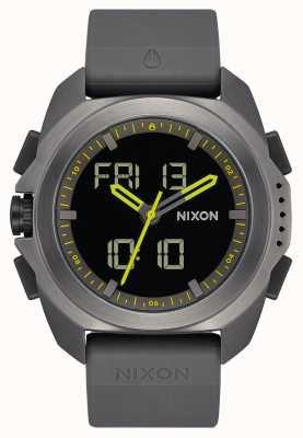 Nixon 里普利|炮铜色|数码|枪色灰色tpu表带| A1267-131-00