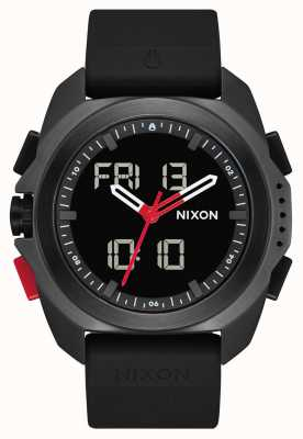Nixon 里普利 黑色/红色/ recco  数字 黑色tpu表带  A1267-3251-00