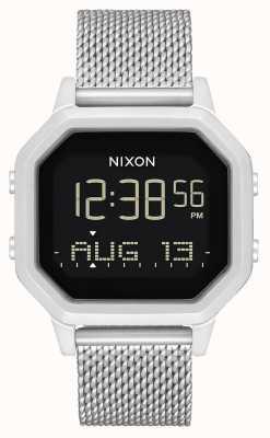 Nixon 警笛米兰人|全银|数字|不锈钢网状手链 A1272-1920-00