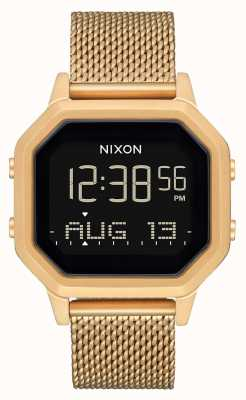 Nixon 警笛米兰人|全金|数字|金色ip钢网手链 A1272-502-00