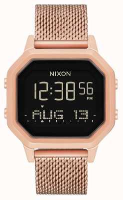 Nixon 警笛米兰人|所有玫瑰金|数字|玫瑰金ip钢网| A1272-897-00