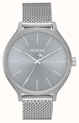 Nixon 贵族米兰|全银|不锈钢网状手链|银色表盘 A1289-1920-00
