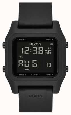 Nixon 主食|黑色|数码|黑色硅胶表带 A1309-000-00