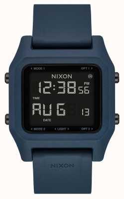 Nixon 主食 暗石板数字 板岩色硅胶表带 A1309-2889-00