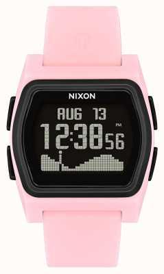 Nixon 竞争对手粉色/黑色|数字|粉色硅胶条 A1236-2531-00