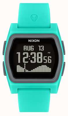 Nixon 竞争对手绿松石数字|绿松石硅胶表带 A1236-309-00